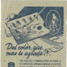 Coleccionismo Papel Varios: TINTES IBERIA ANTIGUO FOLLETO PUBLICIDAD. Lote 218245908