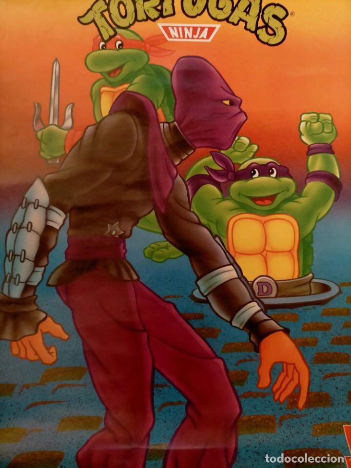 Coleccionismo Papel Varios: Póster tortugas ninja - Foto 3 - 218256238