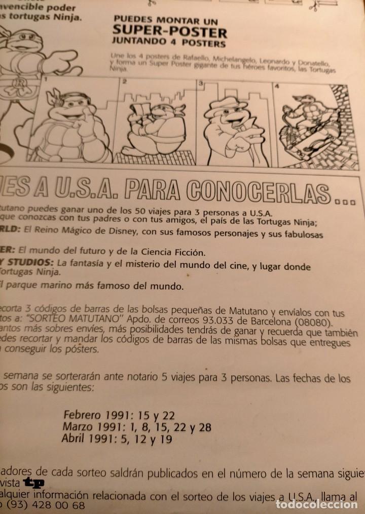 Coleccionismo Papel Varios: Póster tortugas ninja - Foto 4 - 218256238