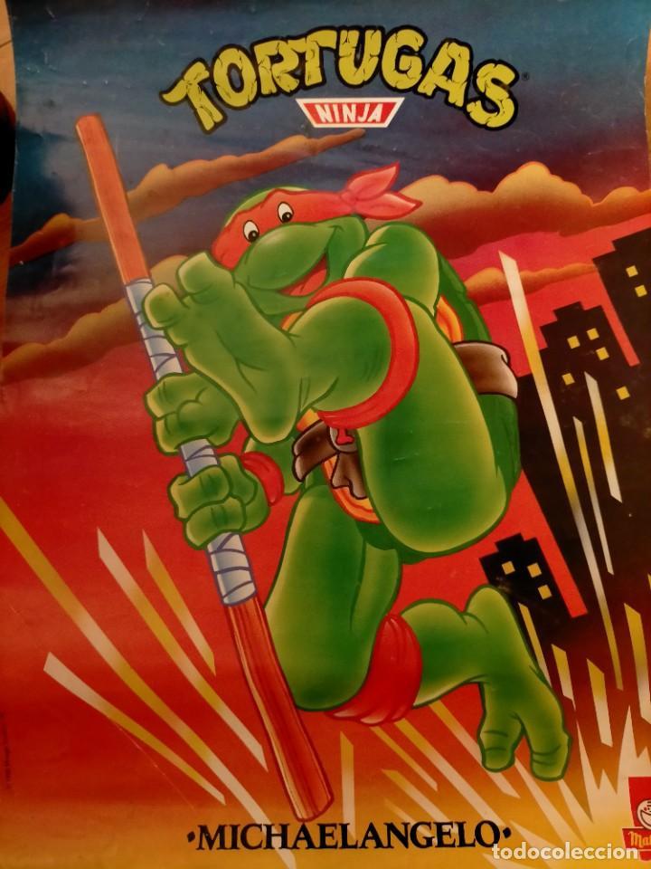Coleccionismo Papel Varios: Póster tortugas ninja - Foto 6 - 218256238