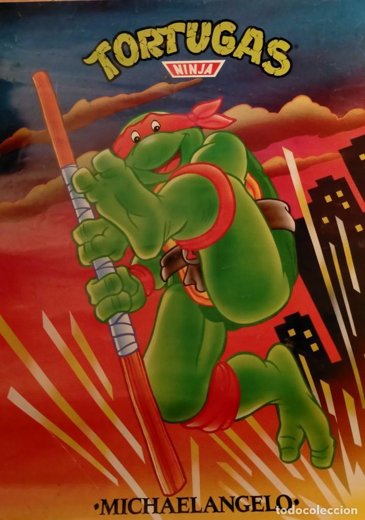 Coleccionismo Papel Varios: Póster tortugas ninja - Foto 9 - 218256238