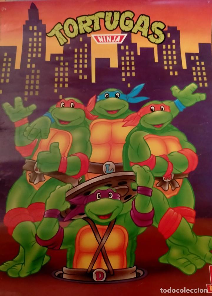 Coleccionismo Papel Varios: Póster tortugas ninja - Foto 16 - 218256238