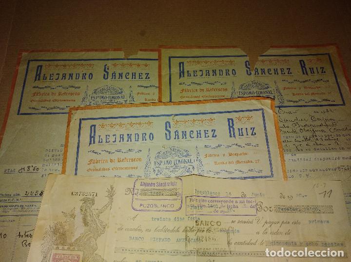 Coleccionismo Papel Varios: lote pozoblanco cordoba facturas sanchez ruiz fabrica refrescos 1930 - 31 - Foto 2 - 218292301