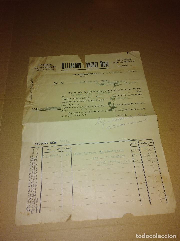 Coleccionismo Papel Varios: factura / letra pozoblanco cordoba sanchez ruiz 1929 - Foto 2 - 218292948