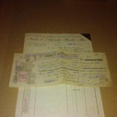 Coleccionismo Papel Varios: FACTURA / LETRA VIUDA SANCHEZ RUIZ POZOBLANCO CORDOBA 1931. Lote 218293382