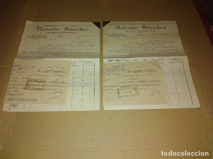 LOTE 2 FACTURA / LETRA POZOBLANCO CORDOBA SANCHEZ FABRICA REFRESCOS 1933 - 34 (Coleccionismo en Papel - Varios)