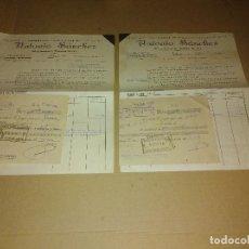 Coleccionismo Papel Varios: LOTE 2 FACTURA / LETRA POZOBLANCO CORDOBA SANCHEZ FABRICA REFRESCOS 1933 - 34. Lote 218293747