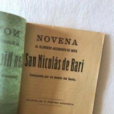 Coleccionismo Papel Varios: NOVENA ARZOBISPO DE MIRA - SAN NICOLÁS DE BARI - COMPUESTA POR UN DEVOTO DEL SANTO. SEVILLA, 1937. Lote 218585817
