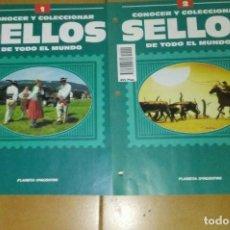 Coleccionismo Papel Varios: CONOCER Y COLECCIONAR SELLOS DEL TODO EL MUNDO.1 Y 2. Lote 218817460