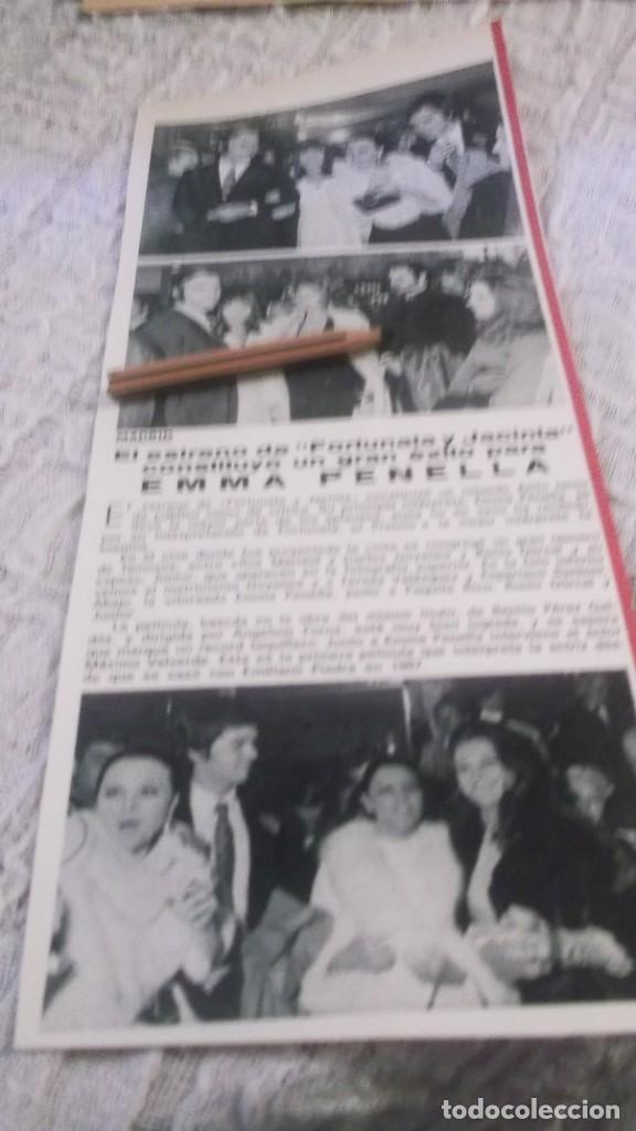 RECORTE PUBLICIDAD AÑOS 70 -ESTRENO DE FORTUNATA Y JACINTA ,EMMA PENELLA,ROCIO DURCAL,JUNIOR,MARISOL (Coleccionismo en Papel - Varios)