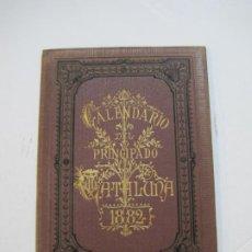 Coleccionismo Papel Varios: CATALUNYA-CALENDARIO DEL PRINCIPADO DE CATALUÑA-AÑO 1882-IMP NAIPES RAMIREZ Y CIA-VER FOTOS-(K-527). Lote 219123897