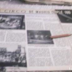 Coleccionismo Papel Varios: RECORTE AÑO 1959 - EL CIRCO DE MADRID CUMPLE 100 AÑOS -1859 -1959. Lote 219200136