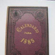 Coleccionismo Papel Varios: CALENDARIO PARA 1885-IMPRESOR ROBRENO ZANNE-VER FOTOS-(K-537). Lote 219224983