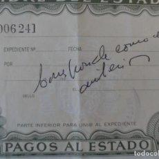 Coleccionismo Papel Varios: TIMBRE DEL ESTADO - PAGOS DEL ESTADO 100 PESETAS. DISTRITO FORAL DE VIZCAYA. 8ª CLASE. AÑO 1981. Lote 219311708