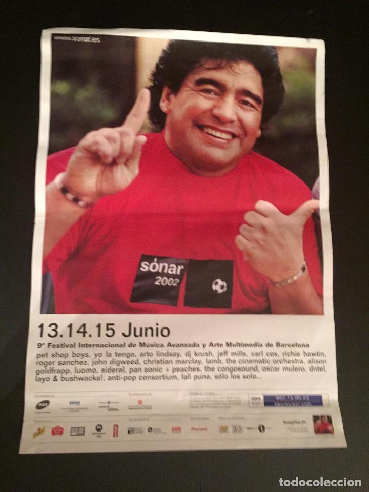 POSTER - CARTEL - 9º FESTIVAL SONAR - FESTIVAL INTERNACIONAL DE MUSICA (BARCELONA) MARADONA (Coleccionismo en Papel - Varios)
