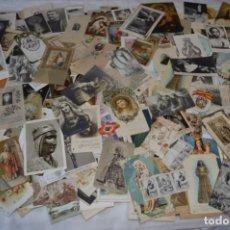 Coleccionismo Papel Varios: SOBRE 400 ESTAMPAS RELIGIOSAS, DE TODOS TIPOS, FORMATOS Y CLASES - DE PRINCIPIOS 1900 A 1960 ¡MIRA!. Lote 220373306