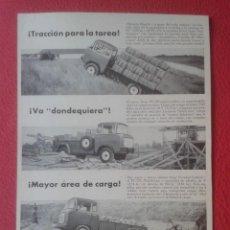 Coleccionismo Papel Varios: RECORTE DE PRENSA HOJA DE REVISTA O PERIÓDICO PUBLICIDAD ADVERTISING OHIO JEEP FC-170 Y WARNER B-W... Lote 220633536