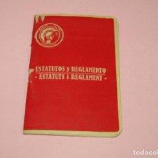 Coleccionismo Papel Varios: ANTIGUO LIBRITO ESTATUTOS Y REGLAMENTO DEL ATENEO POPULAR VALENCIANO - GUERRA CIVIL AÑO 1937. Lote 221449171