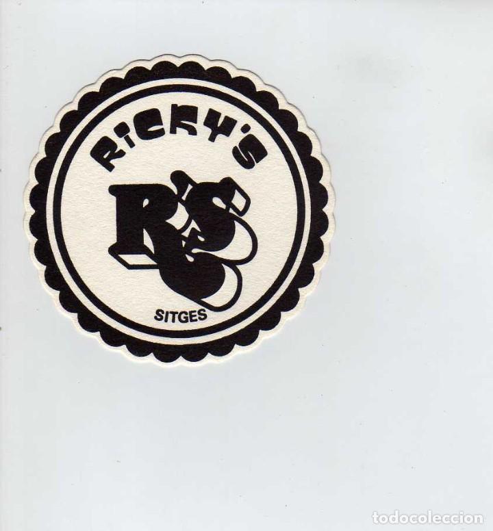 POSAVASOS PUB RICKYS-SITGES (Coleccionismo en Papel - Varios)