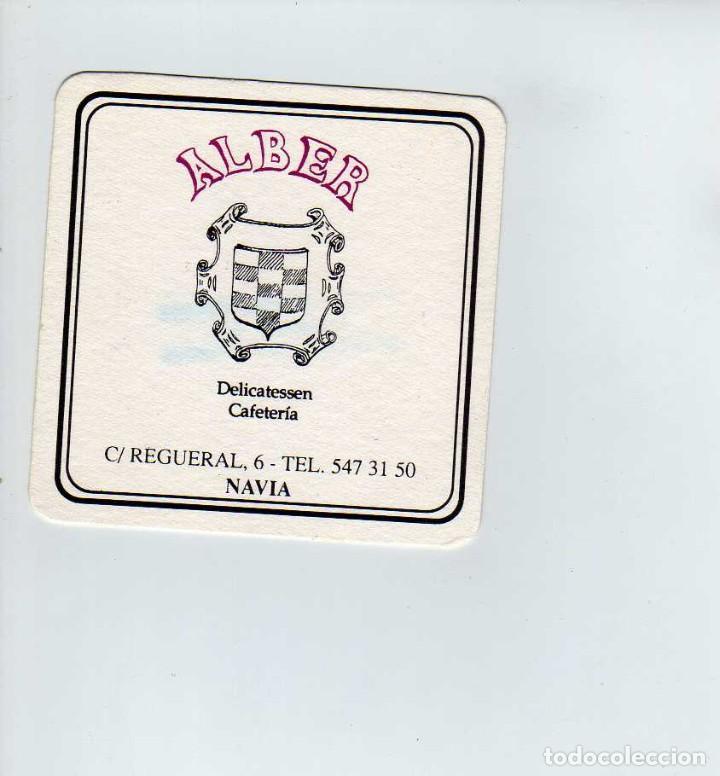 POSAVASOS CAFETERIA ALBER-NAVIA-ASTURIAS (Coleccionismo en Papel - Varios)