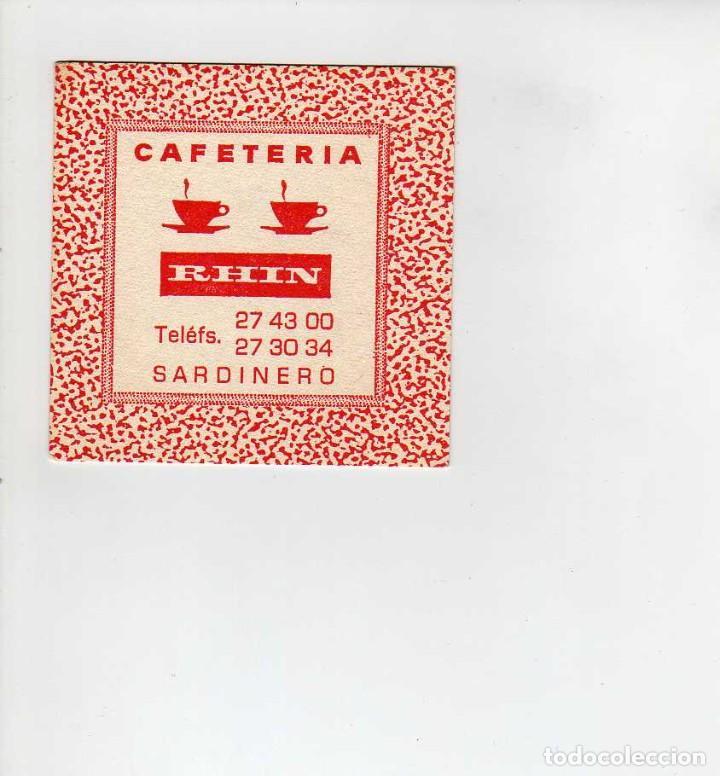 POSAVASOS CAFETERIA RHIN-SARDINERO (Coleccionismo en Papel - Varios)