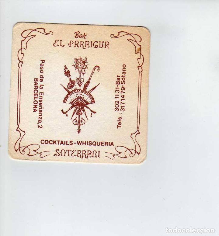 POSAVASOS BAR EL PARAIGUA-BARCELONA (Coleccionismo en Papel - Varios)