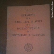 Coleccionismo Papel Varios: REGLAMENTO SALVAMENTO DE NAUFRAGOS.AVILES.1965. Lote 221621852
