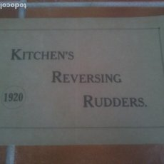 Coleccionismo Papel Varios: KITCHEN`S REVERSING RUDDERS.1920. Lote 221622288