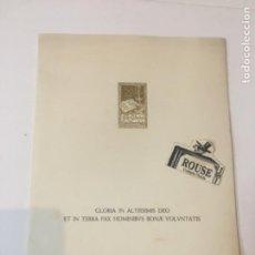 Coleccionismo Papel Varios: FELICITACIÓN MCMXLVII- LUIS PEREZ-SALA Y CAPDEVILA / JAUME PLA. - GLORIA IN ALTISSIMIS DEO ET IN TER. Lote 221687365
