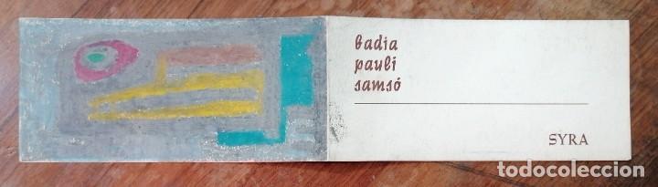 FOLLETO EXPOSICION GALERIA SYRA (BARCELONA, 1965). BADIA-PAULI-SAMSO. PINTURA Y CERAMICA (Coleccionismo en Papel - Varios)