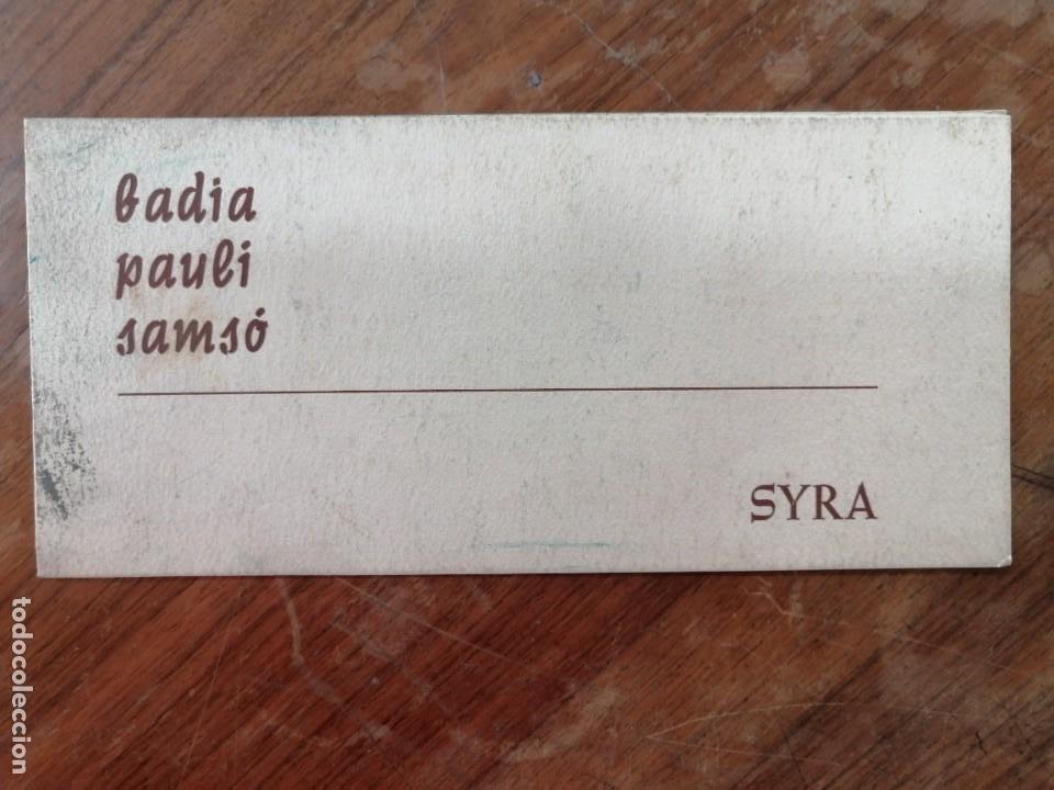 Coleccionismo Papel Varios: FOLLETO EXPOSICION GALERIA SYRA (Barcelona, 1965). BADIA-PAULI-SAMSO. PINTURA Y CERAMICA - Foto 3 - 221879836