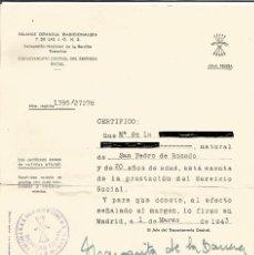Coleccionismo Papel Varios: CERTIFICADO EXENCIÓN DEL SERVICIO SOSIAL. Lote 221882898
