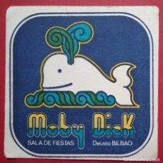 Coleccionismo Papel Varios: POSAVASOS DISCOTECA MOBI DICK BILBAO. Lote 221898123