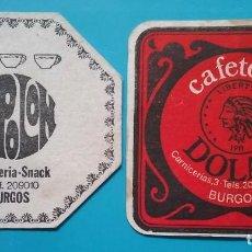 Coleccionismo Papel Varios: POSAVASOS PUBLICIDAD CAFETERÍA DOLAR / ESPOLÓN BURGOS. Lote 221899197