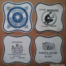 Coleccionismo Papel Varios: POSAVASOS CAFETERÍA PUBLICIDAD LOTE 4 BILBAO. Lote 221900427