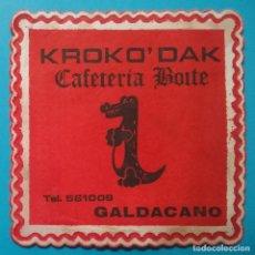 Coleccionismo Papel Varios: POSAVASOS DISCOTECA KROKO DAK GALDACANO. Lote 221903141