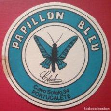 Coleccionismo Papel Varios: POSAVASOS DISCOTECA CLUB PAPILLON BLEU PORTUGALETE BILBAO. Lote 221903705