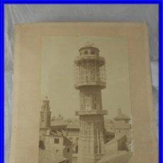 Coleccionismo Papel Varios: POSTAL ANTIGUA DE LA TORRE NUEVA DE ZARAGOZA EN CONSTRUCCION. Lote 221939423