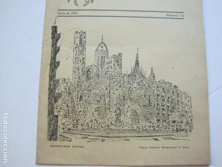 Coleccionismo Papel Varios: AGRUPACION CULTURAL FOLKLORICA BARCELONA-REVISTA ANTIGUA-Nº 161-JUNIO 1961-VER FOTOS-(K-800) - Foto 4 - 221951407