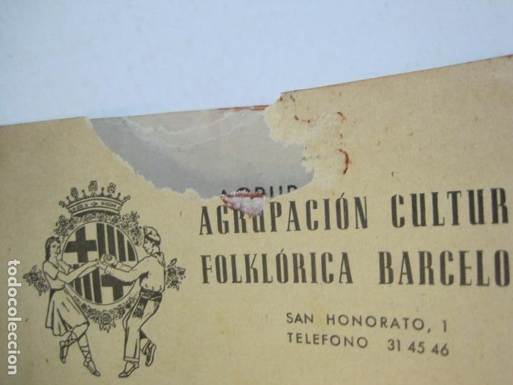 Coleccionismo Papel Varios: AGRUPACION CULTURAL FOLKLORICA BARCELONA-REVISTA ANTIGUA-Nº 161-JUNIO 1961-VER FOTOS-(K-800) - Foto 5 - 221951407