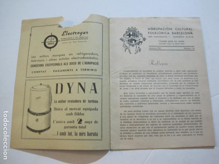 Coleccionismo Papel Varios: AGRUPACION CULTURAL FOLKLORICA BARCELONA-REVISTA ANTIGUA-Nº 161-JUNIO 1961-VER FOTOS-(K-800) - Foto 6 - 221951407