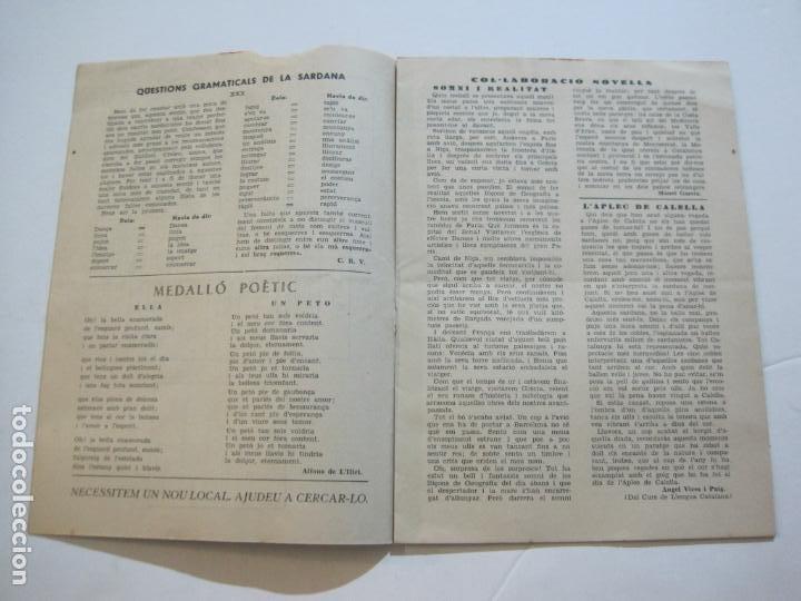 Coleccionismo Papel Varios: AGRUPACION CULTURAL FOLKLORICA BARCELONA-REVISTA ANTIGUA-Nº 161-JUNIO 1961-VER FOTOS-(K-800) - Foto 8 - 221951407