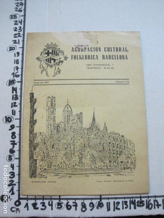 Coleccionismo Papel Varios: AGRUPACION CULTURAL FOLKLORICA BARCELONA-REVISTA ANTIGUA-Nº 161-JUNIO 1961-VER FOTOS-(K-800) - Foto 14 - 221951407