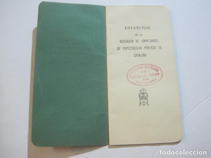 Coleccionismo Papel Varios: BARCELONA-ASOCIACION EMPRESARIOS ESPECTACULOS PUBLICOS DE CATALUÑA-ESTATUTOS 1932-VER FOTOS-(K-805) - Foto 5 - 221953112