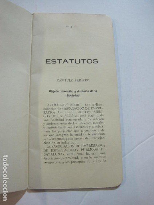 Coleccionismo Papel Varios: BARCELONA-ASOCIACION EMPRESARIOS ESPECTACULOS PUBLICOS DE CATALUÑA-ESTATUTOS 1932-VER FOTOS-(K-805) - Foto 6 - 221953112