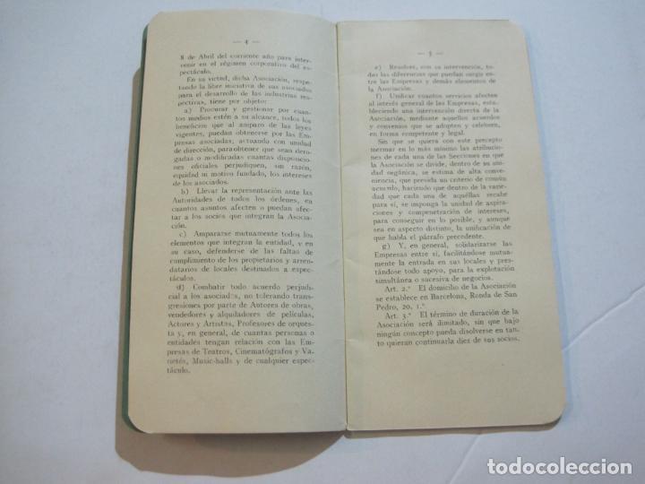 Coleccionismo Papel Varios: BARCELONA-ASOCIACION EMPRESARIOS ESPECTACULOS PUBLICOS DE CATALUÑA-ESTATUTOS 1932-VER FOTOS-(K-805) - Foto 7 - 221953112