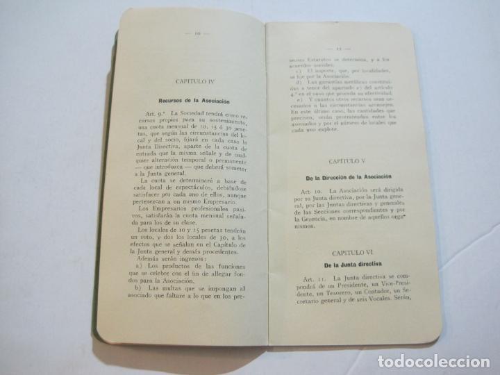 Coleccionismo Papel Varios: BARCELONA-ASOCIACION EMPRESARIOS ESPECTACULOS PUBLICOS DE CATALUÑA-ESTATUTOS 1932-VER FOTOS-(K-805) - Foto 9 - 221953112