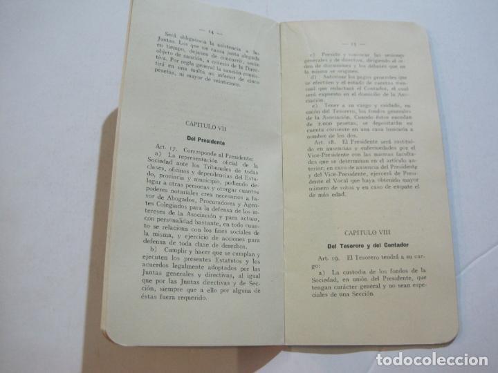 Coleccionismo Papel Varios: BARCELONA-ASOCIACION EMPRESARIOS ESPECTACULOS PUBLICOS DE CATALUÑA-ESTATUTOS 1932-VER FOTOS-(K-805) - Foto 10 - 221953112