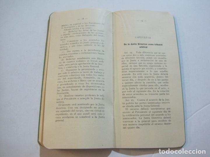 Coleccionismo Papel Varios: BARCELONA-ASOCIACION EMPRESARIOS ESPECTACULOS PUBLICOS DE CATALUÑA-ESTATUTOS 1932-VER FOTOS-(K-805) - Foto 11 - 221953112