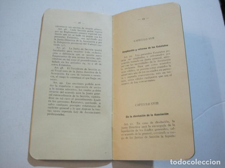 Coleccionismo Papel Varios: BARCELONA-ASOCIACION EMPRESARIOS ESPECTACULOS PUBLICOS DE CATALUÑA-ESTATUTOS 1932-VER FOTOS-(K-805) - Foto 13 - 221953112